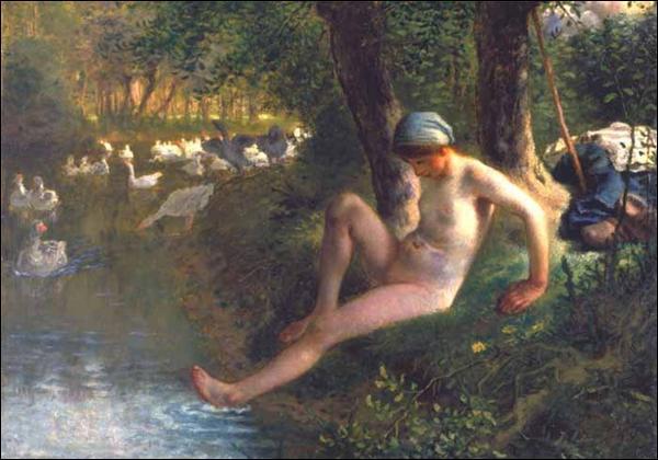 Quel artiste, né un 4 octobre, a peint La gardeuse d'oie ?