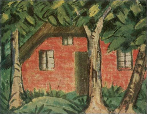 également né un 16 octobre, il a peint La maison rouge :