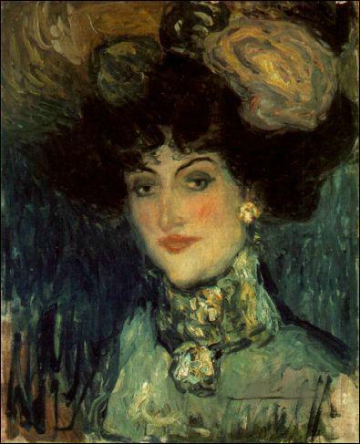 Cette toile intitulée  Femme au chapeau à plumes  n'est pas révélatrice de l'art qui l'a rendu célèbre, il est né le 25 octobre :