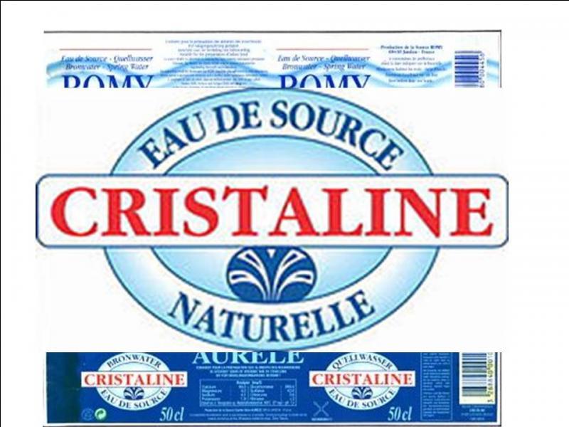 Cristaline est une marque d'eau plate créée en 1992. Les eaux des bouteilles Cristaline proviennent de 22 sources différentes dont deux situées dans la région Champagne-Ardenne. Lesquelles ?
