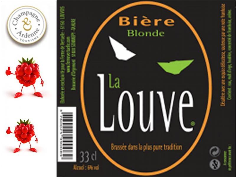 Dans cette même brasserie, une bière exclusive, la Louve, a été créée pour une ferme de Louvois. Blonde, elle est relevée d'une touche fruitée. Quel est ce fruit ?
