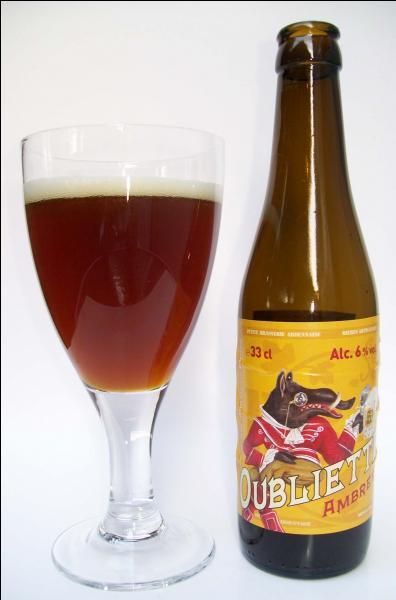 Pour clore le chapitre  bières , il ne faut pas oublier celle-ci. C'est la bière ambrée ...