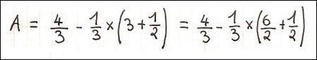 Dans une opération complexe, quels sont les calculs à effectuer en premier lieu ?