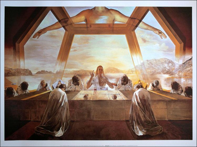 Un grand saut dans le temps. En 1955, quel peintre fit une version moderne, en utilisant le nombre d'or, de l'oeuvre de Léonard de Vinci ?