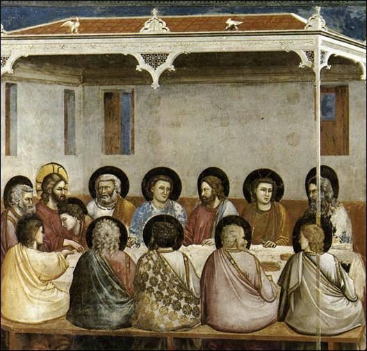 Dans la ville de Padoue, et dans la chapelle des Scrovegni, un peintre a représenté pour l'une des premières fois  La Cène  sur des fresques sublimes, en 1303. Qui est-ce ?