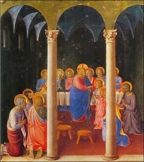 Ce  peintre des anges , prêtre adorable, a représenté lui aussi le moment en 1440 au couvent San Marco de Florence. Quel est cet artiste ?