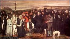 Pourquoi le célèbre tableau d' Eugène Courbet  Un enterrement à Ornans  fit-il scandale en 1850 ?
