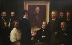 Qui a réalisé le tableau  Hommage à Delacroix  ?