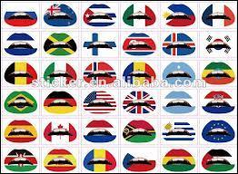 De chaque anneau sur le drapeau des jeux olympiques (dans l'ordre