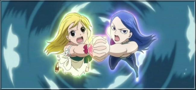 (Épisode 37) Pour vaincre Vidaldus, Lucy et Jubia unissent leur force et leur magie. Comment s'appelle ce sort ?