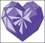Que signifie le coeur violet et combien de cordis rapporte-t-il ?