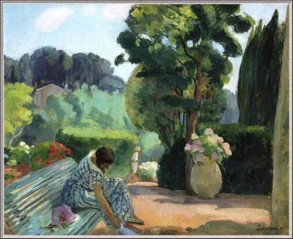 Qui a peint ce banc sur  La terrasse au Pradet  ?