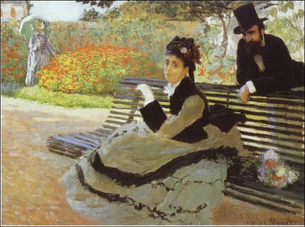 Qui a peint Assise sur un banc de jardin ?