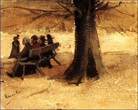 Qui a peint Quatre personnes sur un banc ?