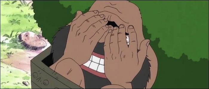 Épisode 18 - Dans cet épisode, Luffy et ses compagnons rencontrent Gaimon. Quels sont les divers déboires qu'a rencontré cet homme ?(3 réponses)