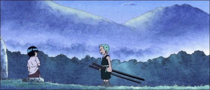 Épisode 19 - On en apprend plus sur la jeunesse de Zoro... et sur sa relation avec la jeune Kuina. Cochez les vérités concernant celle-ci.(2 réponses)