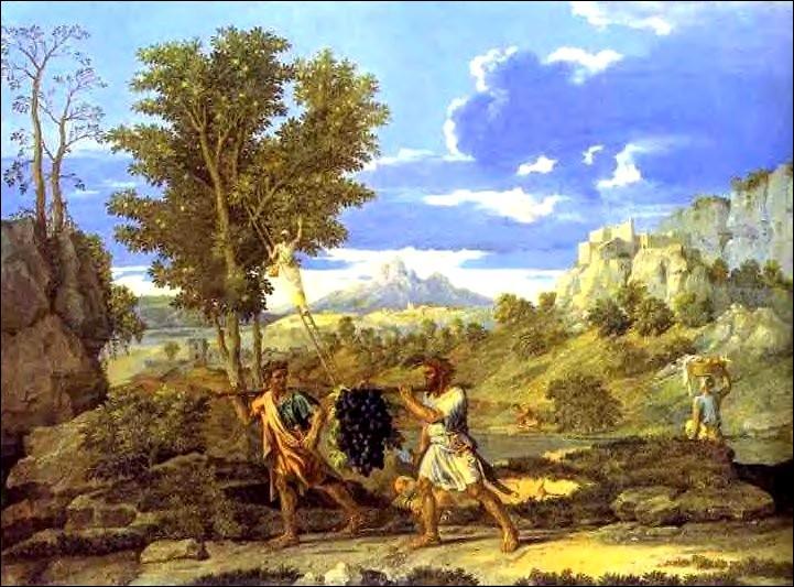 A quel peintre classique du 17e siècle doit-on  L'Automne ou la grappe de raisin rapportée de la terre promise  ?