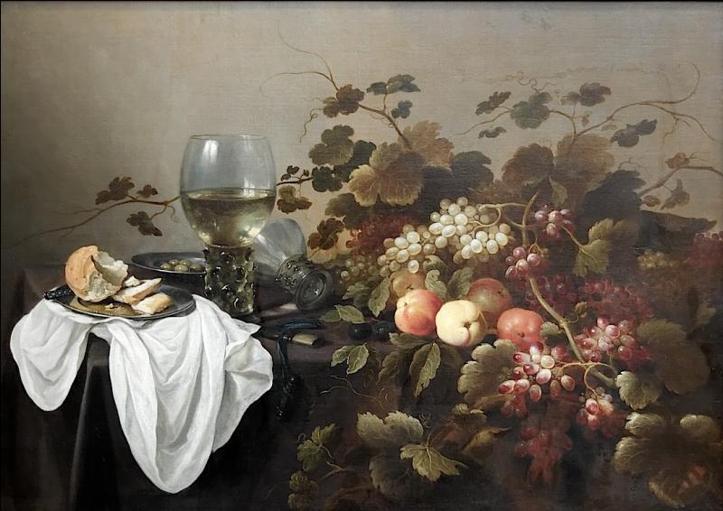 Cette  Nature morte aux fruits  fut réalisée par un des maîtres de la nature morte de l'école hollandaise. Qui est-il ?