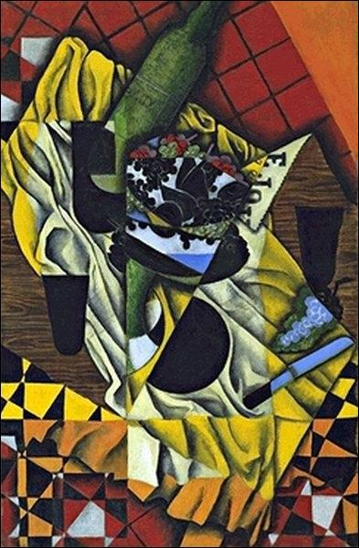 A quel peintre cubiste doit-on  Raisins et vins , réalisé en 1913 ?