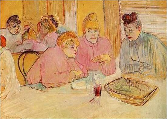 Quel peintre né à Albi a représenté  Ces dames au réfectoire  en 1893 ?