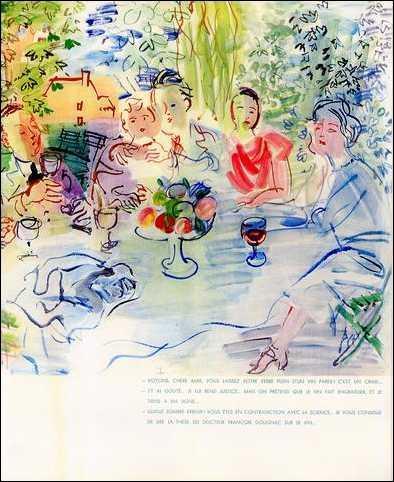 Cette aquarelle, figurant avec d'autres de l'artiste, dans le livre  Mon docteur le vin  en 1936, est l'oeuvre de :