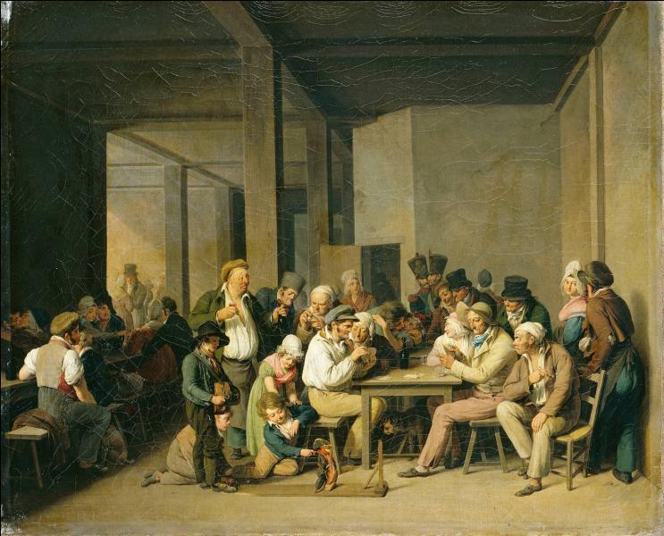 Qui a peint  Scène de cabaret  vers 1825 ?