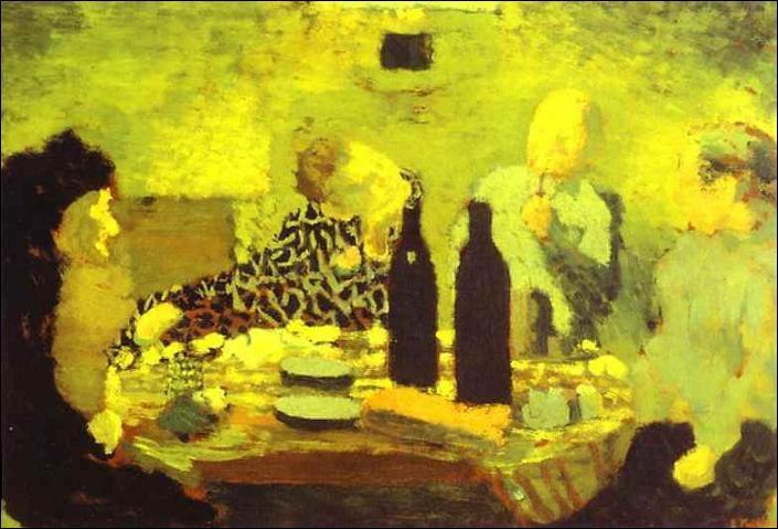 A quel peintre doit-on  La famille après le repas ou le dîner vert  ?