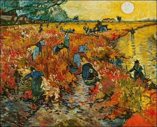 Qui a réalisé  La Vigne rouge  en 1888 ?