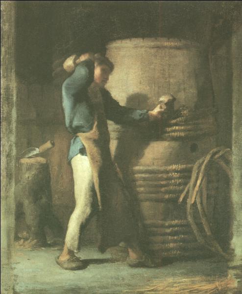 Quel peintre est l'auteur de ce tableau,  Le Tonnelier  ?