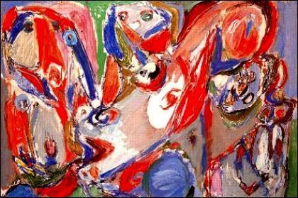 1948. Un mouvement artistique naît à Paris. Il se caractérise par des coups de pinceaux incisifs et violents, l'alliance de la figuration et de l'abstraction, et le renvoi constant au primitivisme. Quel est son nom ?
