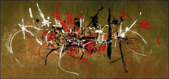 1951. L'art informel est défini par le critique Michel Tapié à l'occasion d'une exposition à Paris rassemblant des œuvres de Fautrier, Dubuffet, Mathieu, etc. Quels sont les termes caractérisant ce mouvement ?
