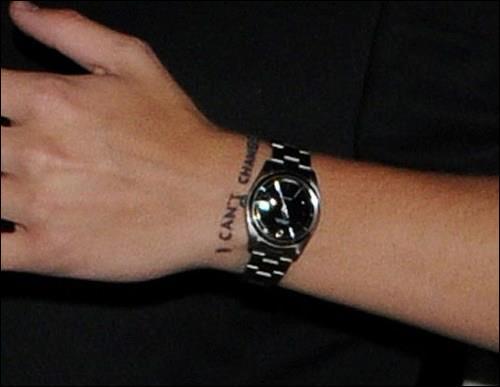 De quelle chanson vient le tatouage  I Can't Change  de Harry ?