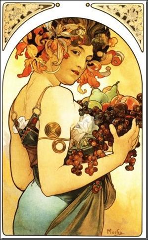 Les Fruits  est l'oeuvre d'un peintre et affichiste, à l'origine du style Art Nouveau. Il s'agit de :