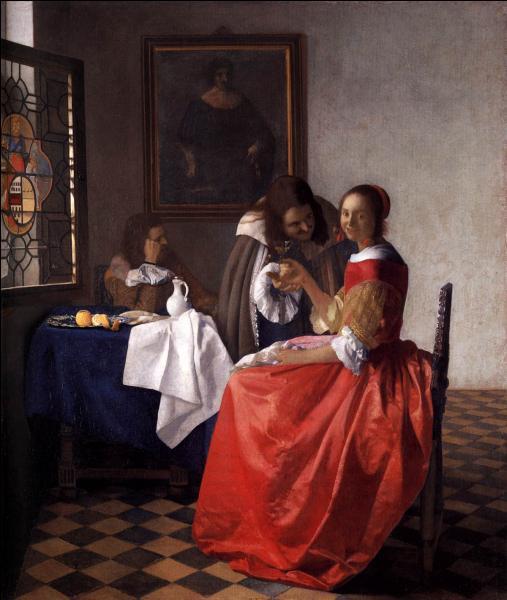 A quel peintre baroque néerlandais doit-on  La jeune fille au verre de vin  ?