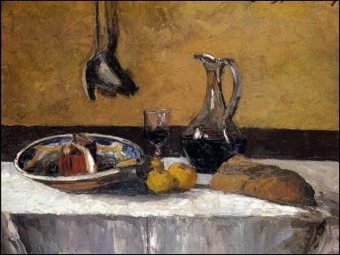 A quel peintre impressionniste doit-on  Nature morte à la carafe de vin  ?