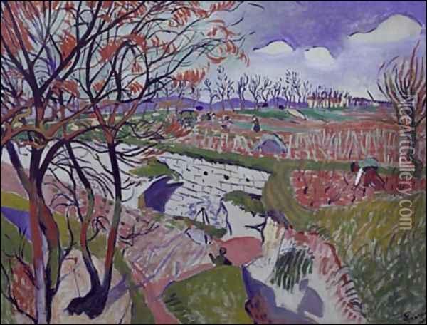 Ces  Vignes au printemps  sont l'oeuvre du peintre fauviste :