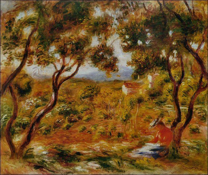 A quel peintre impressionniste doit-on  Les vignes à Cagnes  (1908) ?