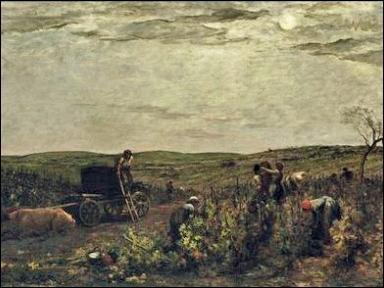 Quel peintre français de l'école de Barbizon, a réalisé  Vendanges en Bourgogne  ?