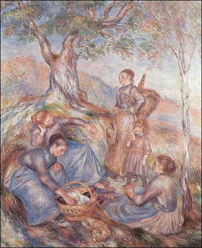 A quel grand peintre impressionniste doit-on  Le repas des vendangeuses  ?