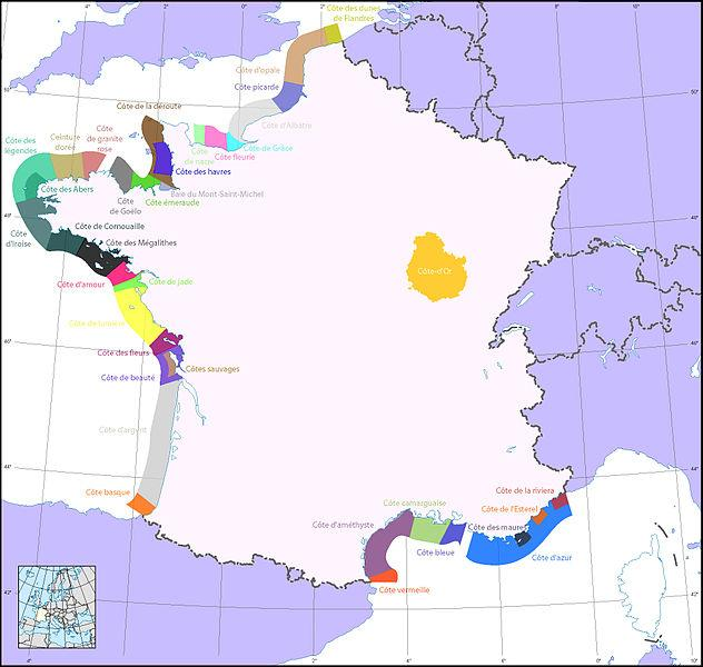 Combien de kilomètres font les côtes du littoral métropolitain français ?