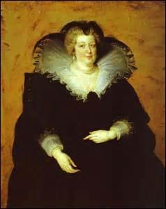Je me nomme Marie de Médicis. Je suis née à Florence le 26 avril 1573 (de François I de Médicis, grand duc de Toscane et de Jeanne d'Autriche, archiduchesse d'Autriche) et décède le 03 juillet 1642 à Cologne (Allemagne). J'épouse mon royal époux par procuration à Florence avant d'officialiser le mariage le 17 décembre 1600. Mais qui est-il ?