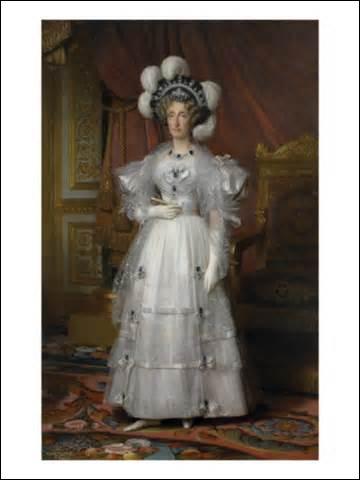 Je me nomme Marie-Amélie des Deux-Siciles. Je suis née à Caserte le 26 avril 1782 (du roi Ferdinand I des Deux-Siciles et de la reine Marie-Caroline) et décède le 24 mars 1866 à Claremont (Royaume-Uni). J'épouse le 25 novembre 1808 à Palerme le roi :