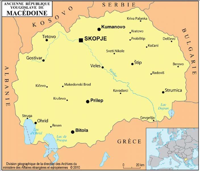 Quel est le motif du litige qui dure depuis plus de 20 ans entre la Grèce et la République de Macédoine ?