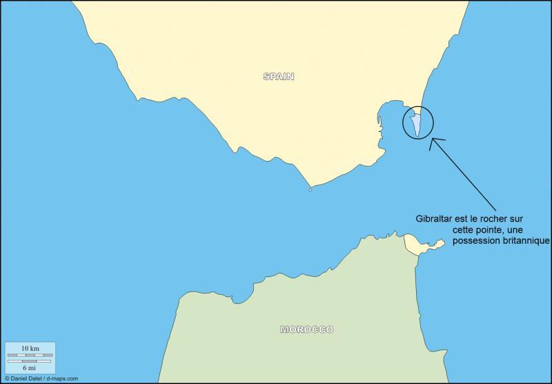 En quelle année Gibraltar est-il passé sous le joug du Royaume-Uni ?