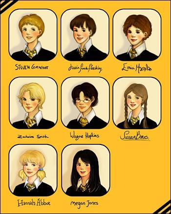 Ce n'est pas montré dans le film, mais Harry fait la connaissance de certains élèves de Poufsouffle dans le deuxième livre :