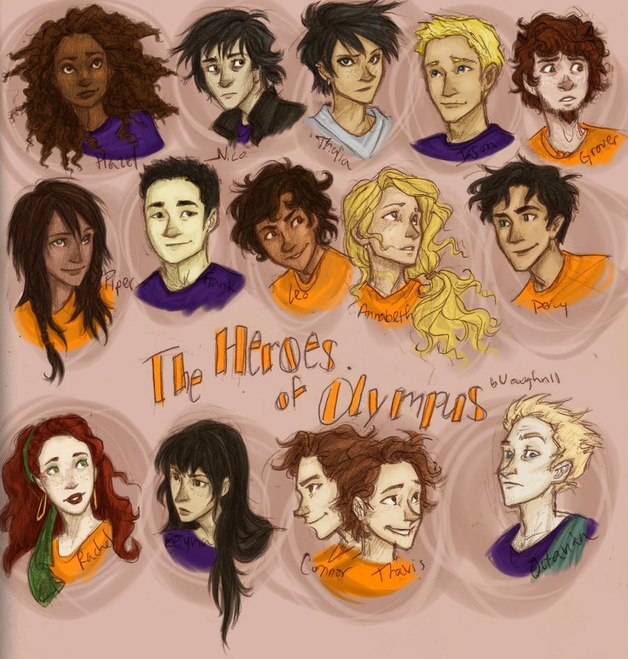 Les héros de l'Olympe - Personnages