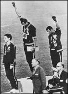 Ce mouvement est devenu mondialement connu aux Jeux olympiques de 1968 lorsque deux athlètes noirs des États-Unis levèrent le poing sur le podium. Lequel de ces athlètes n'a pas participé à cette action d'éclat ?