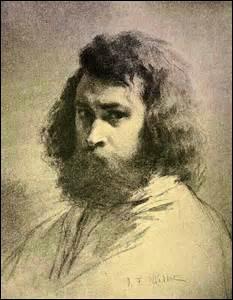 Je nais le 4 octobre 1814 à Gruchy, hameau de Gréville (Manche) et décède le 20 janvier 1875 à Barbizon (Seine-et-Marne). Artiste-peintre de style  réaliste  et aussi pastelliste, graveur ou dessinateur, je figure parmi l'un des fondateurs de  l'école de Barbizon . Particulièrement célèbre pour mes scènes champêtres et de la paysannerie, on me doit des œuvres comme  Les Glaneuses  (1857).