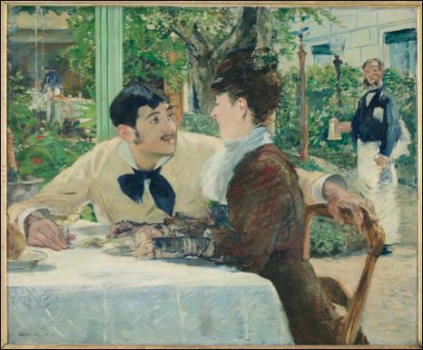 Retrouvez le nom de cette célèbre Toile de Manet qui illustrait un cabaret-restaurant parisien :