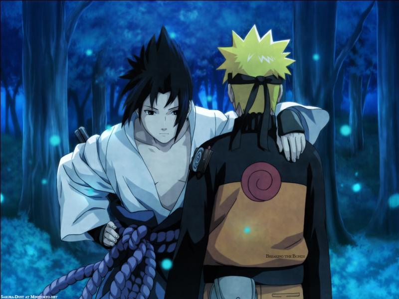 Que fait Sasuke en rejoignant le champs de bataille pendant la grande guerre ?
